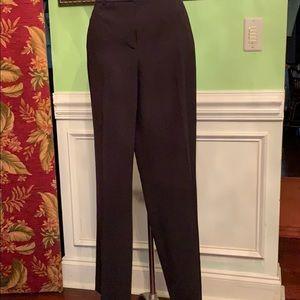 Anne Klein basic black pants size 8 belt hoops